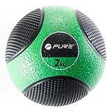 Pure2Improve P2I201910 Bola Medicinal, Unisex-Adult, Negro/Verde, 2 kg