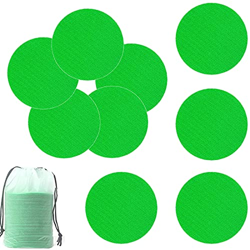 50pcs Carpet Markers Floor Dots for Classroom or Office,Bright Circles,Sit Circles Spot Dots for Teachers and Kids, 4 Inch Green