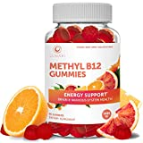 Methyl B12 3000 mcg Gummies for Adults - Organic Gummy Non-GMO Vegan Paleo No Corn Syrup All Natural Vitamins for Energy Support and Bone Health 30 Day Supply