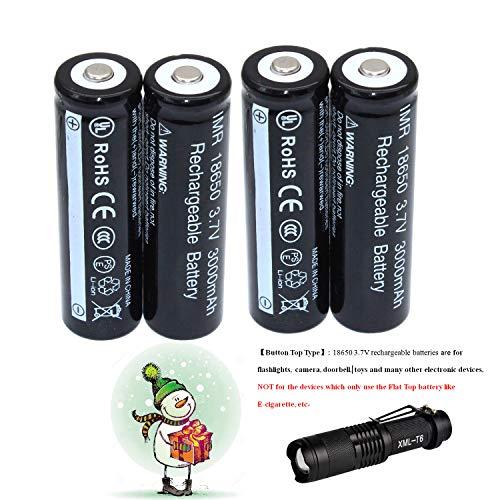 Preisvergleich Produktbild 4-Piece18650 3.7V Wiederaufladbare Akku Li-ion Batterie + LED-Taschenlampe Kit