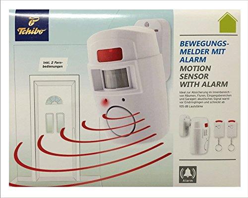 TCM Tchibo Bewegungsmelder mit Alarm inkl 2 x Fernbedienung Sicherheit Signal