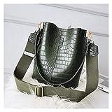 LLZY Bolso de Hombro Bolsa de Mensajero Bolsa de Hombro de Mujer diseñador de la Marca Bolso de Mano de Lujo PU Bolso de Cuero Bolsa Bolsa Bolso (Color : Verde, Talla : 24x16x28cm)