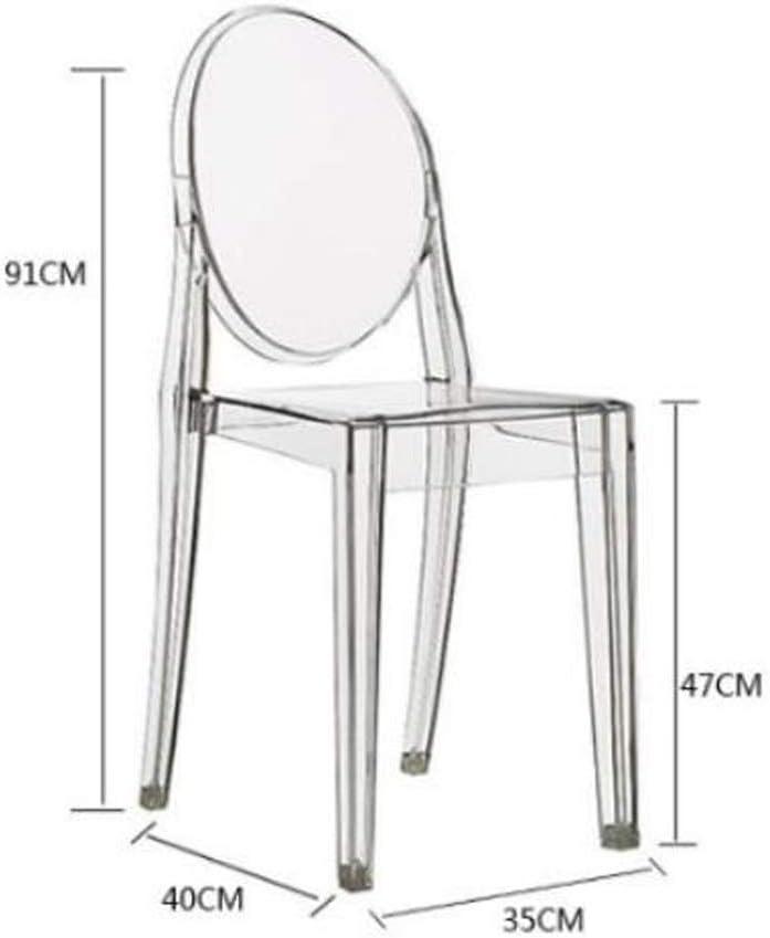 MAYAN Simple Chaise Bureau étudiant et Chaise de Maquillage Tabouret Retour à la Maison à Manger Chaise d'ordinateur Durabilité (Color : Dark Green) Amber
