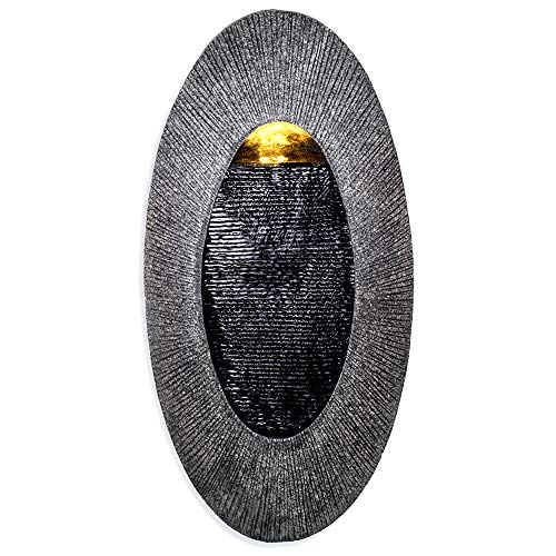"""Oval, Indoor/Outdoor Wall Fountain 23"""" x 12"""" 