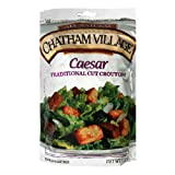 Chatham Village Homestyle Caesar Croutons, Garlic and Butter Flavored, 5-Ounce Bags (Pack of 12)