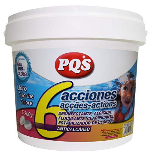PQS Cloro 6 acciones tabletas 200grs 5kg