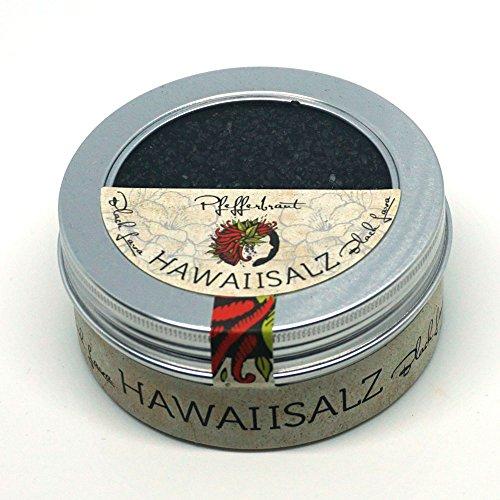 Pfefferbraut schwarzes Hawaii Salz Black Lava 180g in der Fingersalzdose