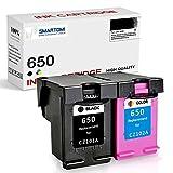 SMARTOMI Remanufacturado 650 650 XL compatibles con HP 650 Cartucho de Tinta para HP Deskjet Ink Advantage 1015 1515 1516 2515 2545 2546 2645 3515 3545 3546 4515 AIO (1 Negro 1 Tricolor)