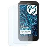 Bruni Schutzfolie kompatibel mit Huawei Y625 Folie, glasklare Bildschirmschutzfolie (2X)