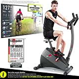 Sportstech <span class='highlight'>Exercise</span> Bike ESX500 with smartphone app control   12KG inertia, pulse belt compatible – fitness bike hometrainer with low-noise belt drive system - with Kinomap