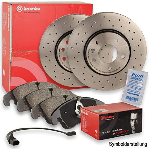Brembo XTRA LINE Sport Bremsscheiben gelocht Ø312mm + BREMBO Beläge Bremsbeläge Bremsbelagsatz vorne Vorderachse