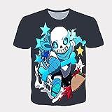 yinying Manga Corta 177DJindian Legend 3D Digital Casual Cuello Redondo Camiseta de Manga corta-Tk6129_Medio