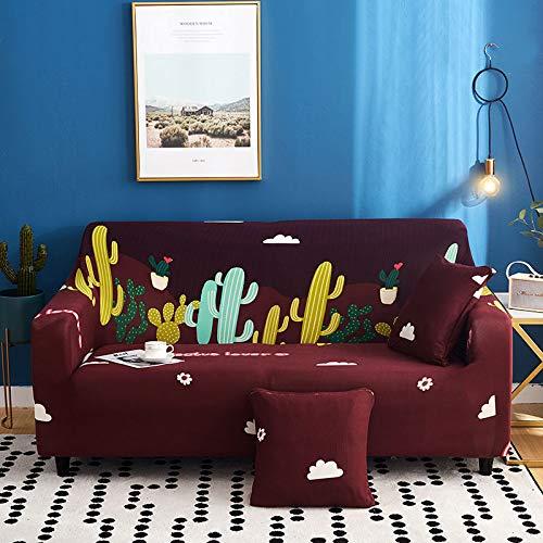 Xiaobyyao Tejido Universal Todo Incluido elástico Doble 145-185cm fantasía,Funda de Sofá Cama Brazos, Cubierta para Sofá de sin Reposabrazos Elástico Plegable Moderno de Color Sólido