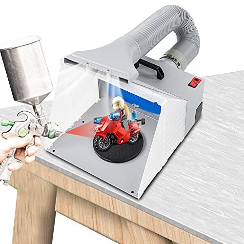 GOTOTO Kit de Cabina de Pulverización de Aerógrafo Filtro Extractor de Cabina de Pulverización Artesanal 100-240V