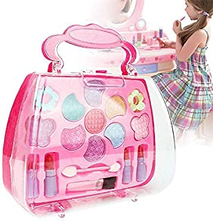 Ocamo Kids Girl Makeup Set Eco-friendly Cosmetic Pretend Play Kit Princess Toy Gift