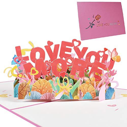 Tarjeta de san valentin, NALCY Tarjeta Romántica, Tarjeta de Aniversario Tarjetas de Felicitación Tarjetas Feliz Año Nuevo Tarjeta de Felicitación 3D Tarjeta de Cumpleaños Regalo