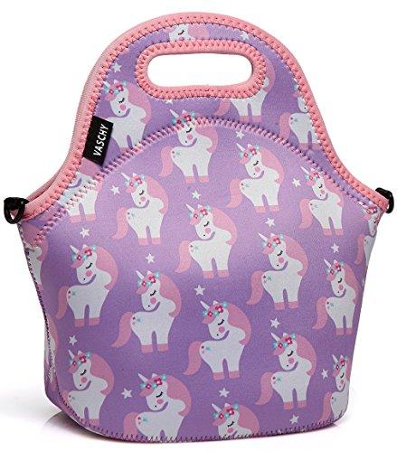 VASCHY Lunch Tasche Isoliertasche Kühltasche Lunchtasche Flamingo Thermische Lunch Tasche Mittagessen Tasche für Damen, Mädchen, Kinder