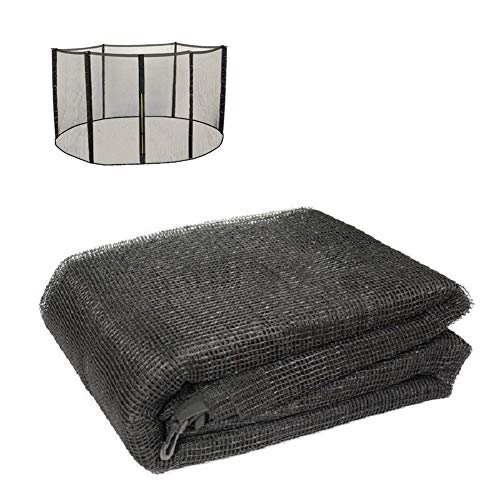 BIN Replacement Trampoline Safety Net Enclosure Surround Netting 6 8 10 12 13 14 15 16 FT Contains Only The Net on The Round Trampoline,8FT