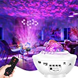 Proyector de Luz Estelar, 2 en 1 LED Cambiar Color Reproductor de Música con Bluetooth Temporizador, Lámpara Luces...