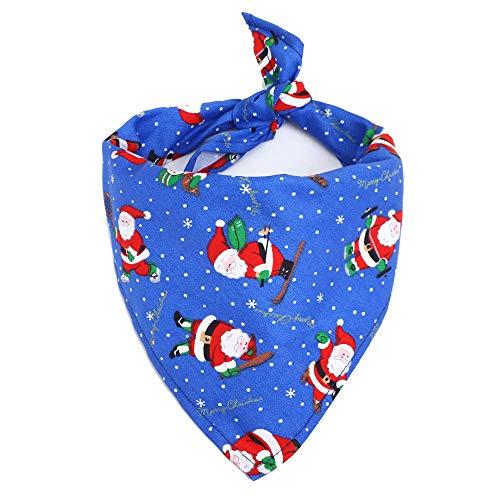 CZZJHLätzchen Weihnachten Haustier Speichel Handtuch Baumwolle Dreieck Schal Hund Schal Katze Lätzchen Schmuck