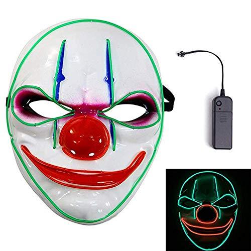 MineSpace Máscara de Halloween con luz LED que brilla para disfraces de cosplay