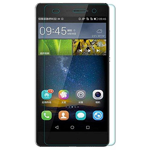 Cristal templado Donkeyphone, protector de pantalla para Huawei P8Lite, dureza 9H, Esquinas redondeadas 2,5D, con carcasa rígida y accesorios