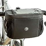 UBORSE Borsa da Manubrio per Bicicletta Impermeabile con Touch Screen in PVC, Conservazione del Calore Cestino del Telaio della Bicicletta, 4L Grand capacità