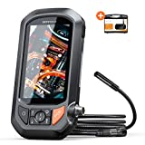 1080P Video Endoscope, DEPSTECH HD Inspection Camera with 4.3in IPS Screen, Industrial Waterproof Borescope with 3000mAh Battery, Portable Hard Case,Single Scope Camera with Light,Durable Snake Camera