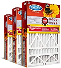 BestAir HW1625-11R AC Furnace Air Filter, 13, Removes Allergens & Contaminants, Fits 100%, for Honeywell Models, 16