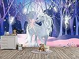 Oedim Fotomural Infantil Vinilo para Pared Unicornio | Mural | Fotomural Vinilo Decorativo |350 x 250 cm | Decoración comedores, Salones, Habitaciones