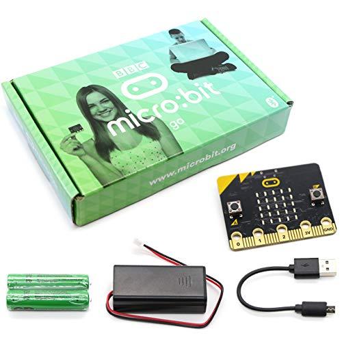 The perseids BBC Micro:bit go, Mikrocontroller mit LED-Display, Bewegungserkennung, eingebautem Kompass und Bluetooth, animierte Muster und programmierbare Tasten