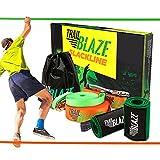 Trailblaze - Complete Slackline Kit 60 Feet, Kids Beginners Slackline Set with Training Line,...