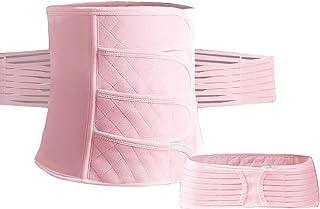 مريحة بعد الولادة دعم البطن الاستشفاء التفاف الحمل - مشد الجسم للنساء - البطن الخصر ملابس داخلية حزام 3 في 1 (اللون: وردي)