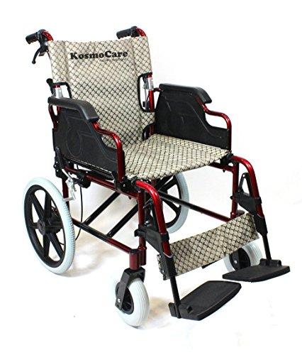 KosmoCare Esteem Premium Imported Aluminium Transporter Wheelchair