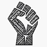 EMC Graphics African American Civil Rights Black Power Fist Justice Design Vinyl...