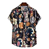 SSBZYES Camisa para Hombre Camisa De Verano De Manga Corta Camisa De Gran Tamaño para Hombre Camisa Floral Hawaiana para Hombre Camisa Delgada Informal De Moda