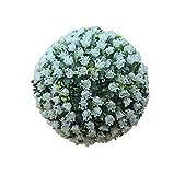 Simulation Garden Rose Topiary Bola Colgante de la Flor - UV Fundido Protegido - boj Ball - Boda Decoración de Navidad 30Cm,Blanco