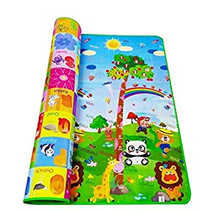 ZOSOE Double Sided Water Proof Baby Mat Carpet Baby Crawl Play Mat Kids Infant Crawling Play Mat Carpet Baby Gym Water… 7 51CYvv5IMFL. SS300