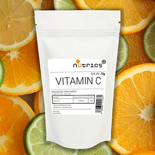 Nutrics 100% Pure Nutrics Vitamin C Powder 200g L Ascorbic Acid Pharmaceutical Grade - Nutrics Superfoods