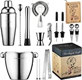 Bar Set 16-Piece Mixology Bartender Kit - Cocktail Shaker Set Bar Tool...