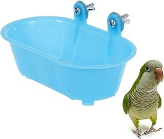 Balacoo Bird Baths Tub with Mirror Parrot Birdbath Shower Accessories Hanging Bath Bathing Box for Small Birds Parrots