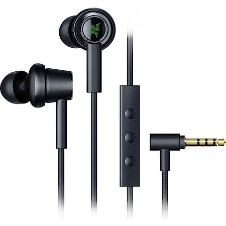 Razer Hammerhead Duo Earbuds Cuffie con Auricolari In-Ear con Tecnologia a Doppi Driver, Quattro Cuscinetti in Silicone, Controlli e Microfono Integrati, Jack da 3.5 mm, Nero