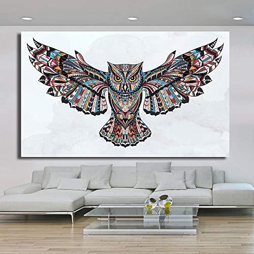 ganlanshu Moderne Tier Eule Flügel Poster Wohnzimmer Dekoration Wandmalerei rahmenlose Malerei 70cmX105cm