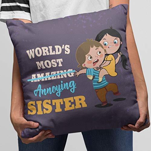 TheYaYaCafe Cotton 190 TC Cushion Cover, 16 x 16 Inch, Purple