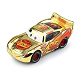 Hannaier Cars, Lightning McQueen car Toy 1:55 die-Casting car Metal Alloy boy Kid Toy (McQueen Gold)