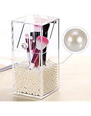 Semme 1500 Piezas / Bolsa Artificial Pearls Bead Decoration Para Brush Brush Organizador de maquillaje (Blanco)