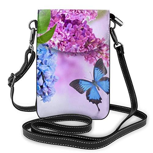 shenguang Lilac Fashion Small Cell Phone Purse Multipurpose Shoulder Bag Wallet