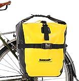 Selighting Bolsa Alforja Trasera para Bicicleta 20L, Grande Bolsa Bicicleta Multifunción Carretera MTB Bicicleta de Montaña (Amarillo)