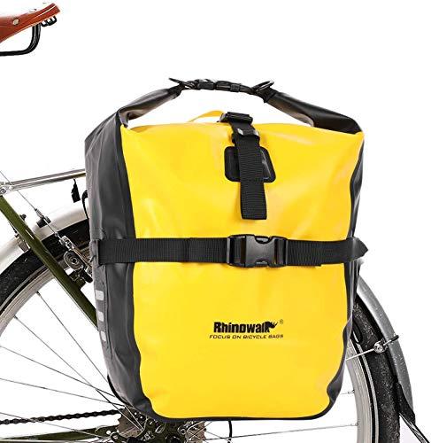 Wildken Fahrrad Gepäckträgertasche Hinten Vorne wasserdichte Fahrradtasche Hinterradtasche Gepäckträger Tasche (Gelb)