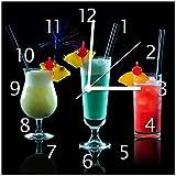 Wallario Glas-Uhr Echtglas Wanduhr Motivuhr • in Premium-Qualität • Größe:...